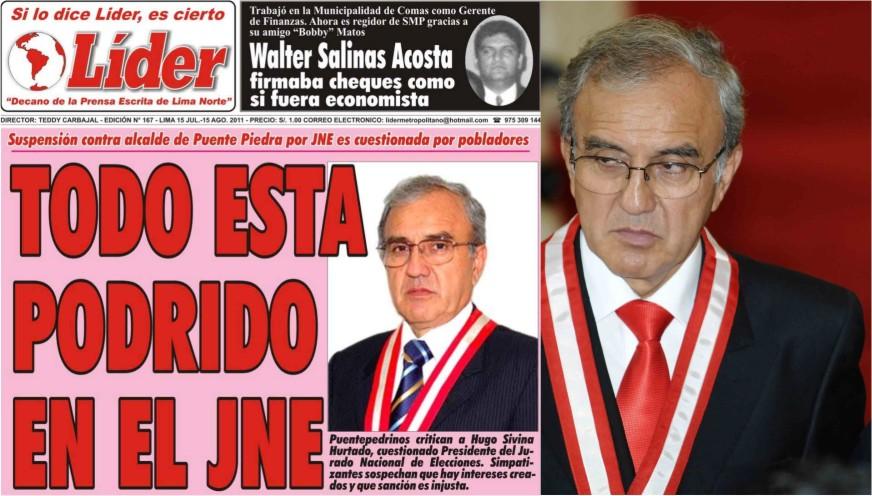 Dr. Hugo Sibina Hurtado muestra indignación por tabloide que cuestiona honestidad del J.N.E.
